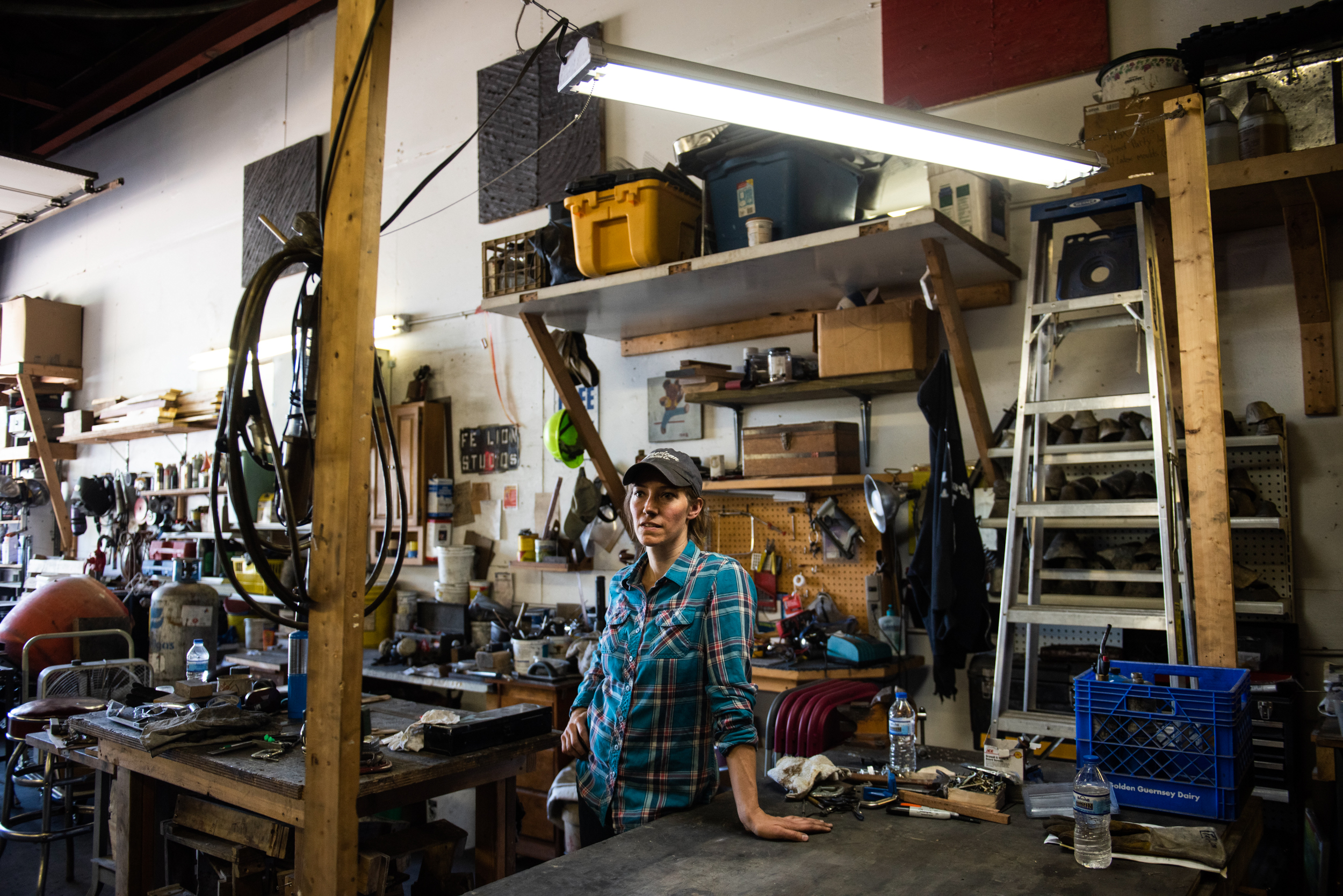 Alisa Toninato of FeLion Studios and American Skillet Company at her studio in Madison, Wisconsin on June 7, 2019 // Photo by Lauren Justice