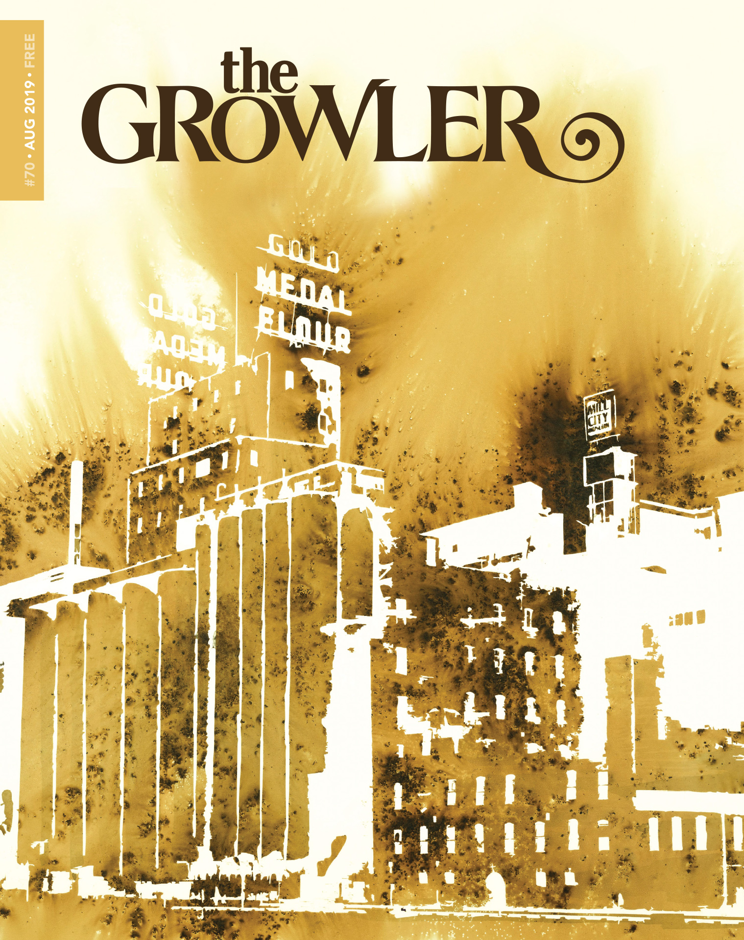 "The Growler's August ""Fire"" issue featuring the gunpowder art of Lisa Friedrich"