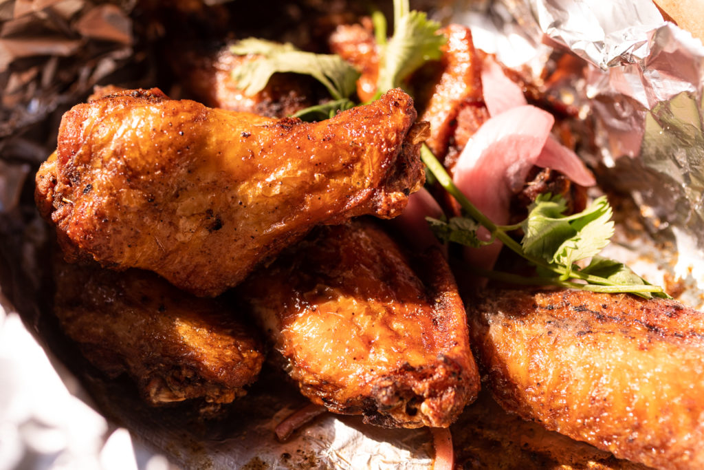 Jerk Chicken Wings at Octo Fishbar // Photo by Tj Turner