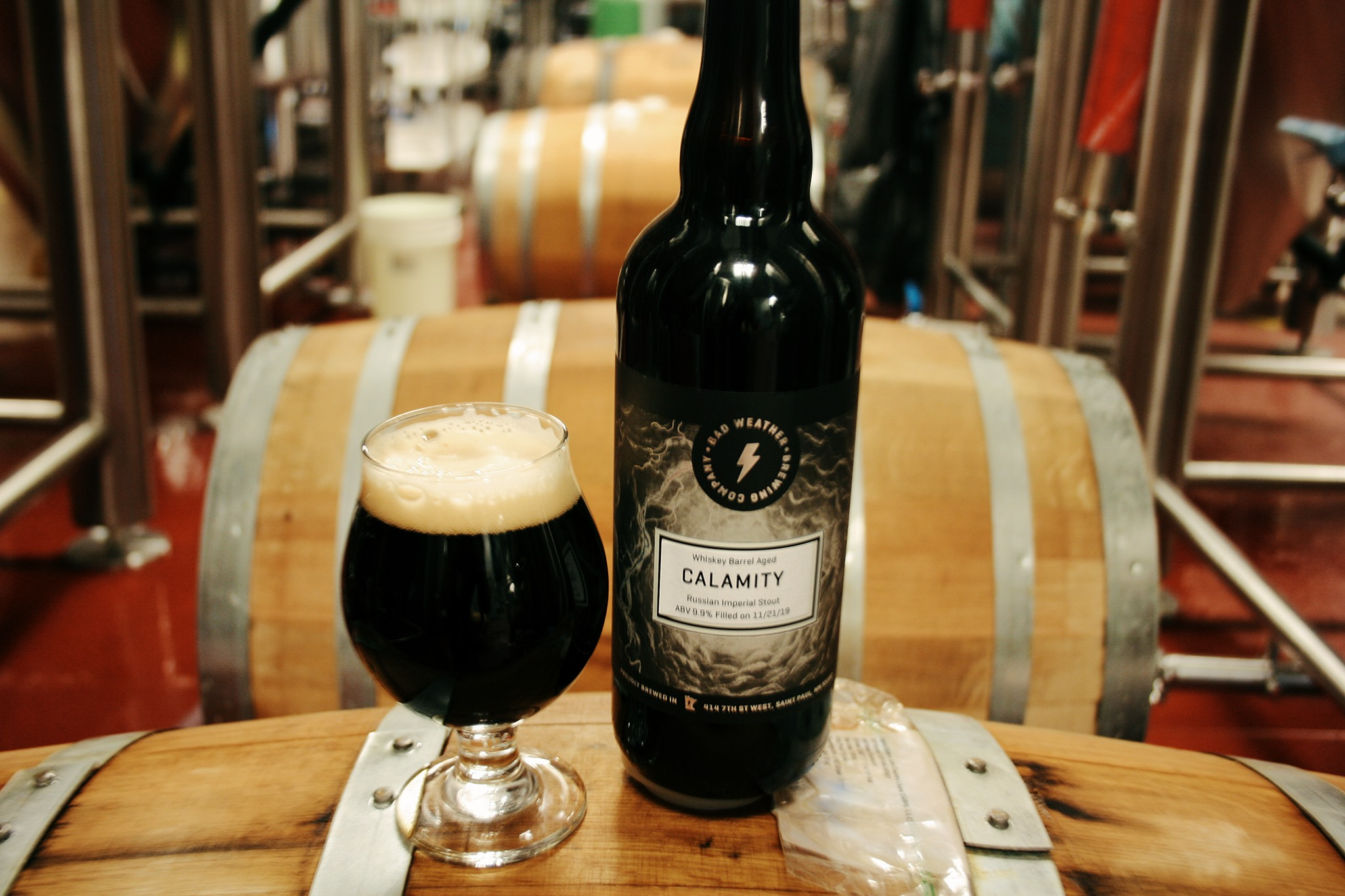 Bad Weather Whiskey Barrel Aged Calamity releases on Black Friday // Photo via Bad Weather's Facebook