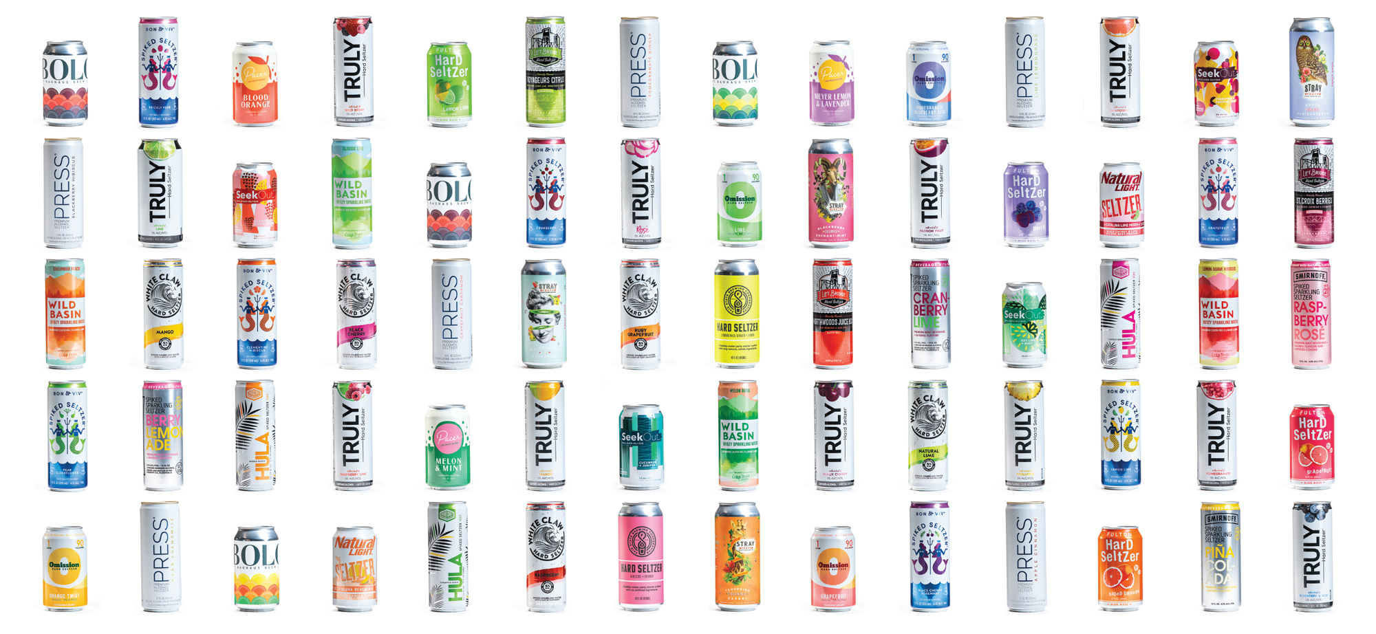 The Growler's editorial team blind tasted 70 flavors of hard seltzer from brands that are available on retails shelves in Minnesota // Photo by Tj Turner