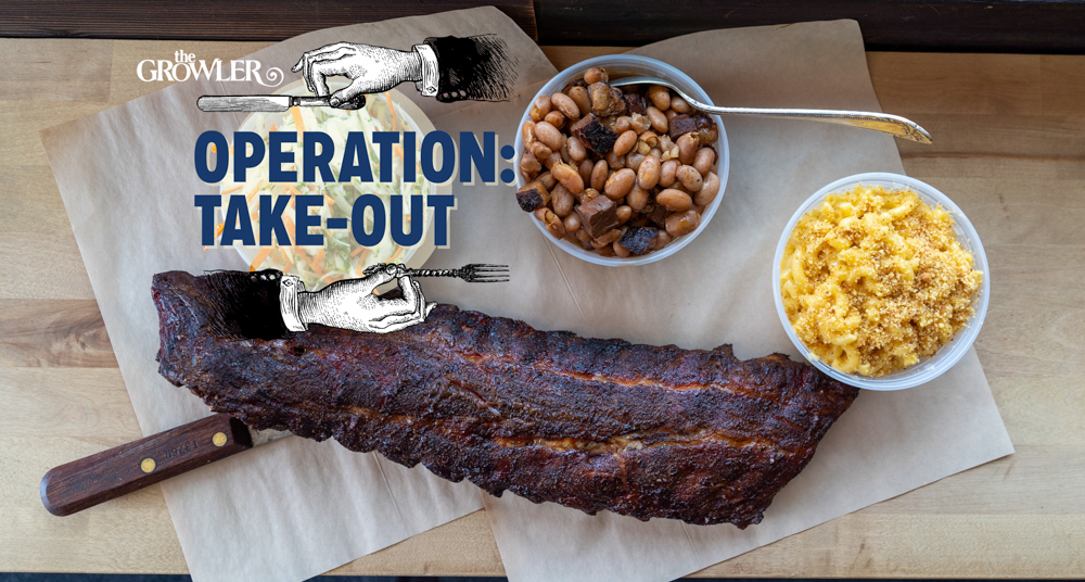 Smoked pork ribs, coleslaw, baked beans, and mac 'n' cheese from Minnesota Barbecue Co. // Photo by Tony Saunders