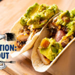 Pork belly and chopped bacon tacos from Hope Breakfast Bar // Photo by Tony Saunders