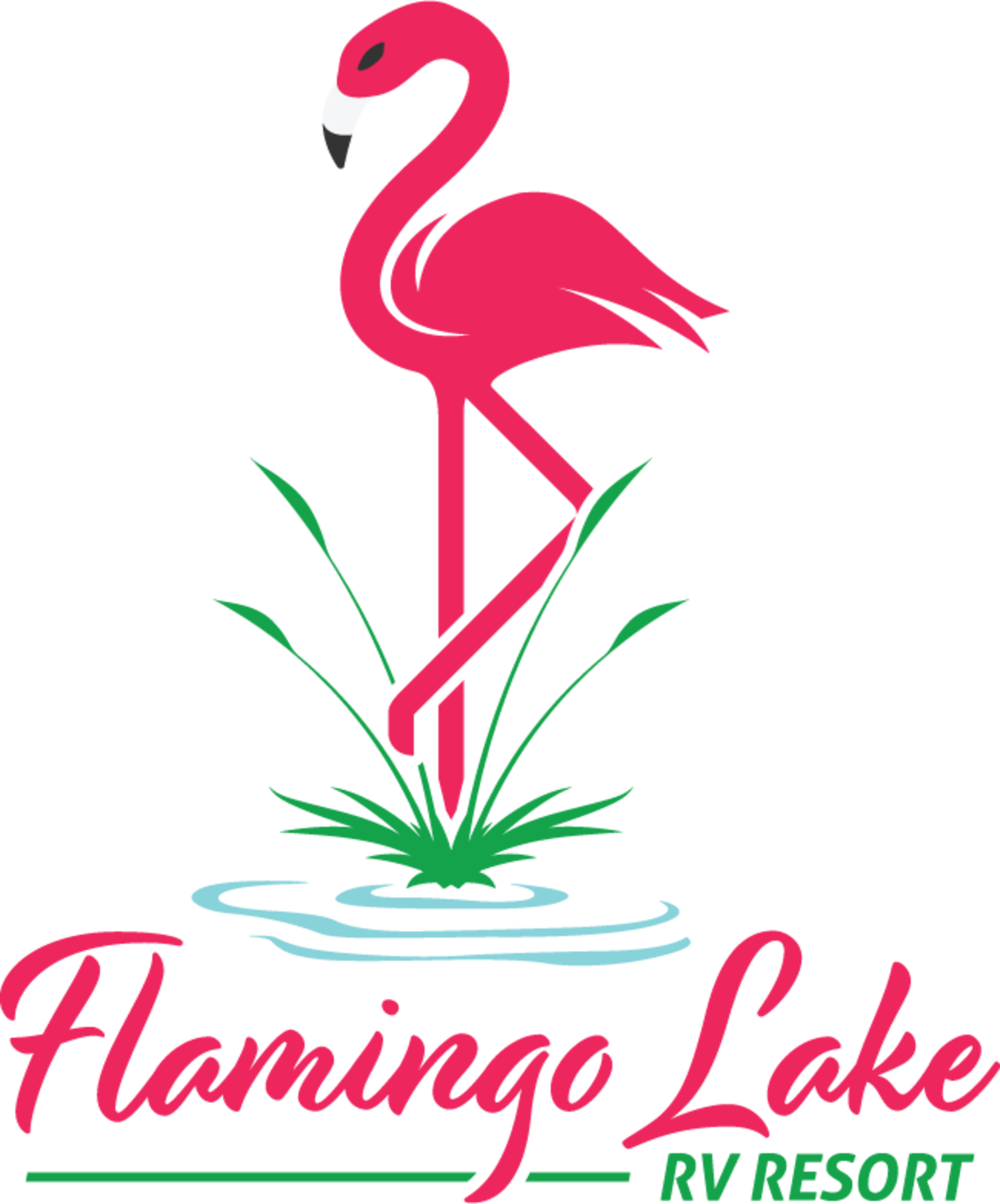 Flamingo lake logo