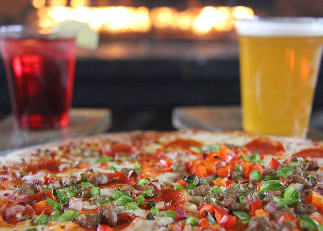 Pizza and Beverages