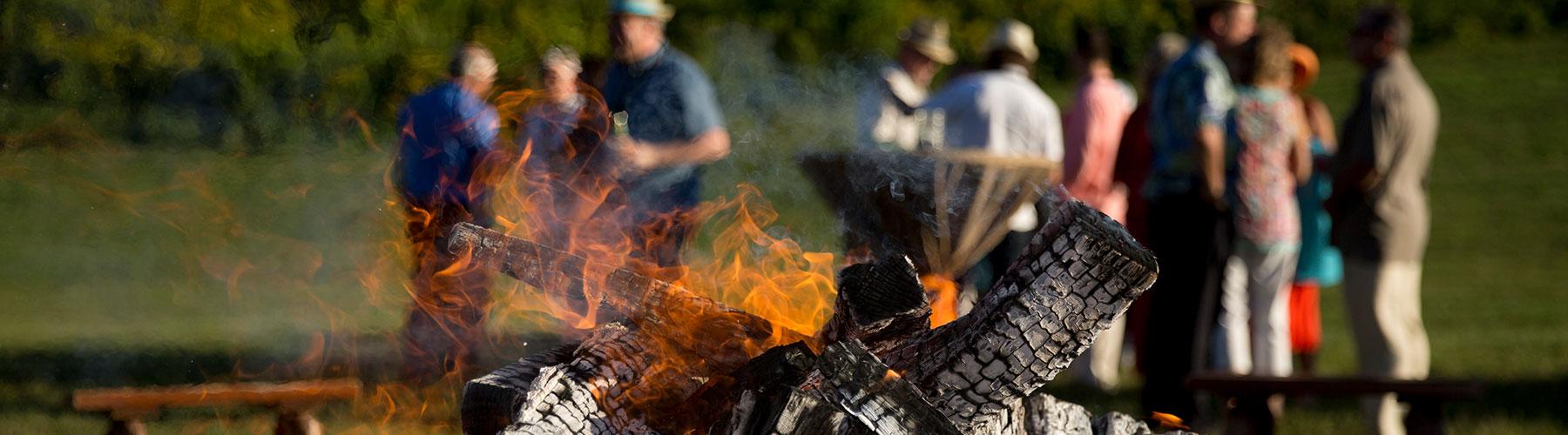 Meeting Folks around a Campfire