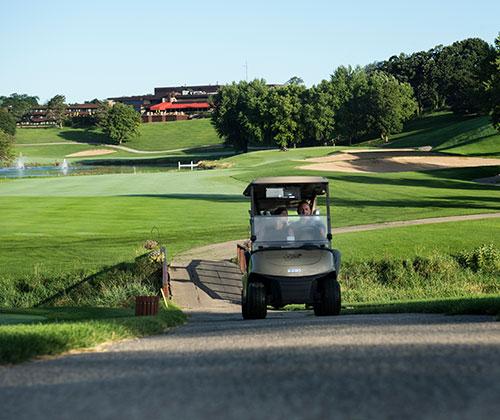 Golf Cart on Green
