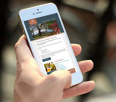 Heidel House Email Template On A Mobile Device