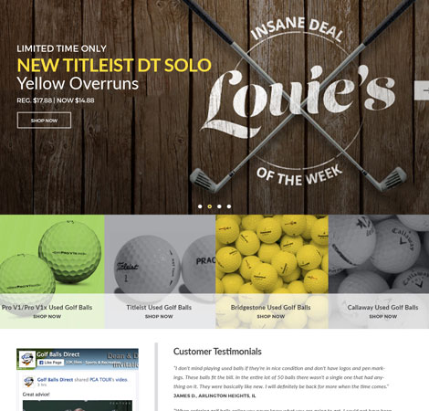 Golf Balls Direct Homepage