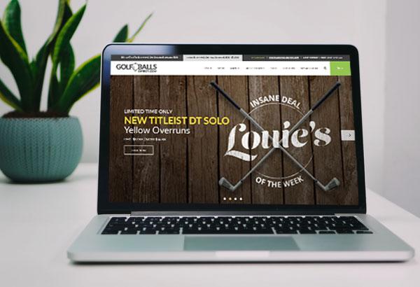 Golf Balls Direct Website On A Laptop