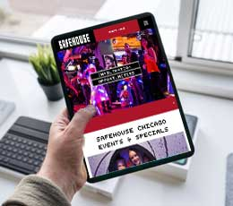 Events & Specials Page On A Tablet