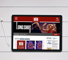 Marcus Theatres Site On A Tablet