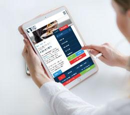 Wisconsin Restaurant Association Site On Tablet