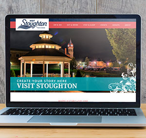 Visit Stoughton Website on Laptop Screen