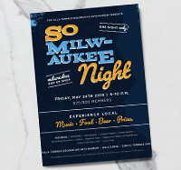 So Milwaukee Night - Advertising Flyer