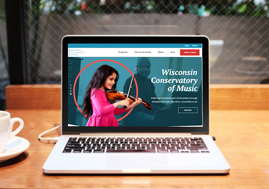Wisconsin Conservatory of Music Website Redesign