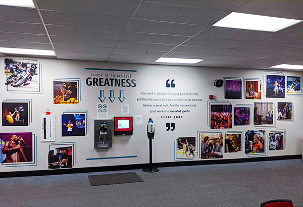 Vinyls in the Wisconsin Center District Office Spaces