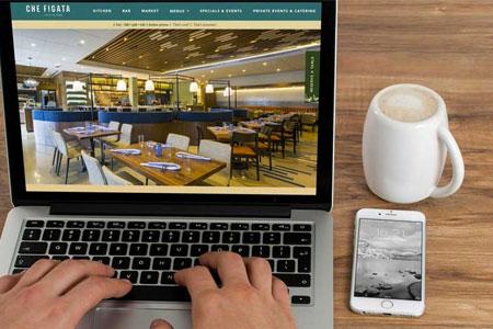 Che Figata Custom Website On Laptop