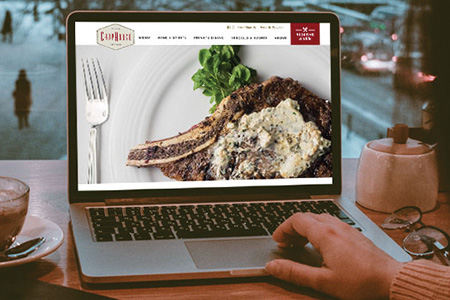 Milwaukee ChopHouse Website Redesign On Laptop
