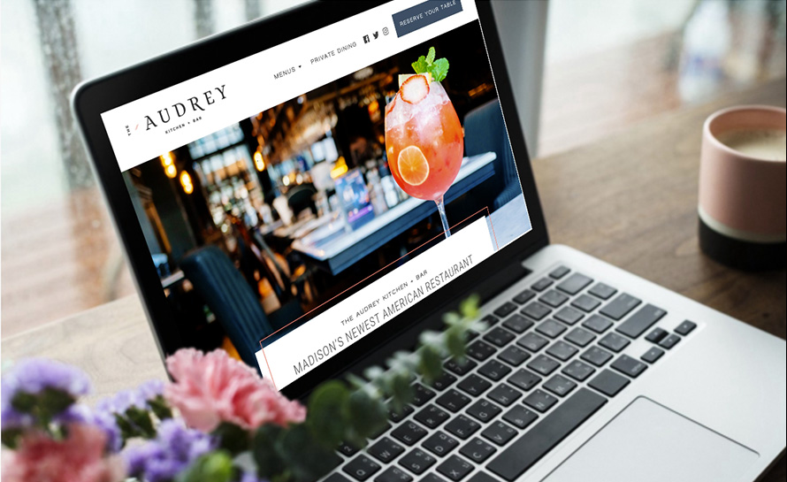 The Audrey Kitchen + Bar Website
