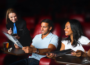 movie-goers and employee