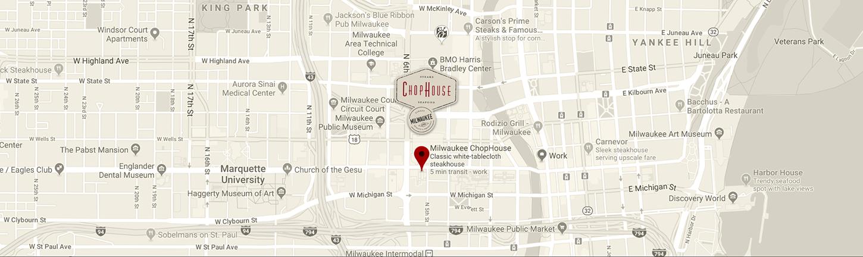 Milwaukee Chophouse Google Map