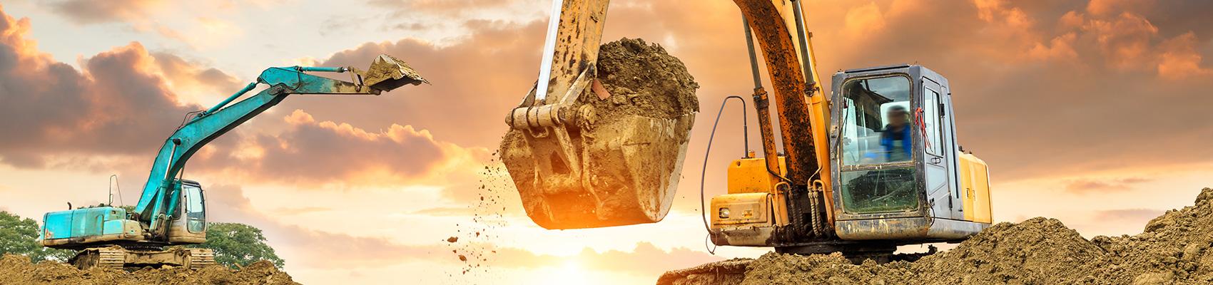 Backhoe loader digging