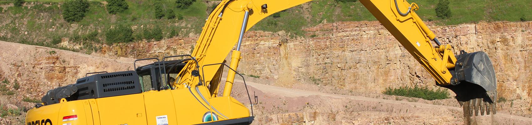 Excavator on job site