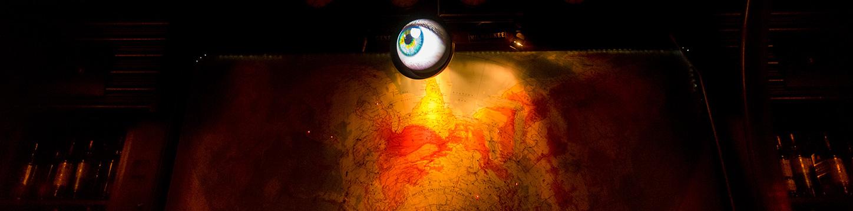 Moving eyeball above Interpol Bar
