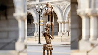 Bam (Seated Warrior) sculpture