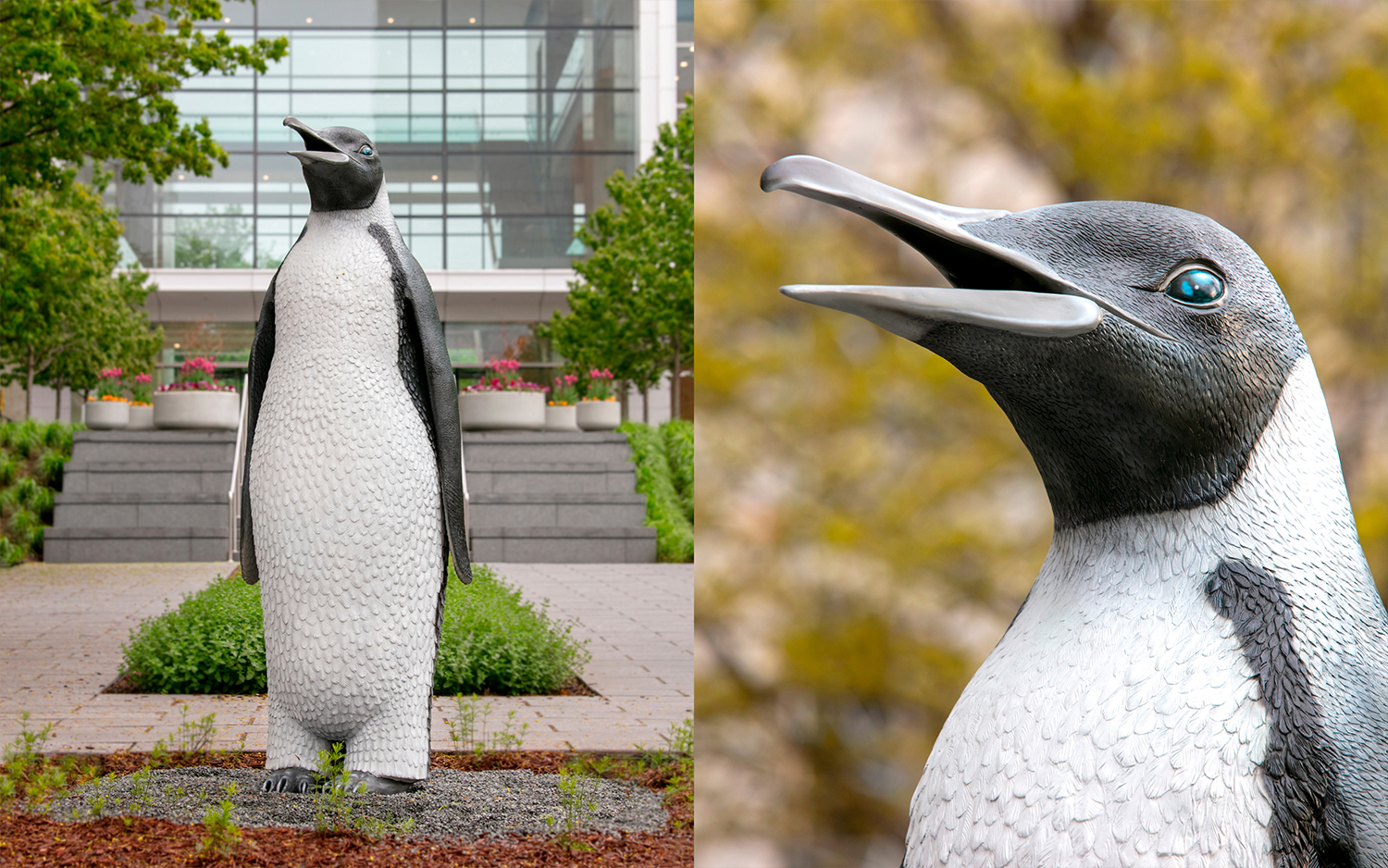 Penguin sculpture