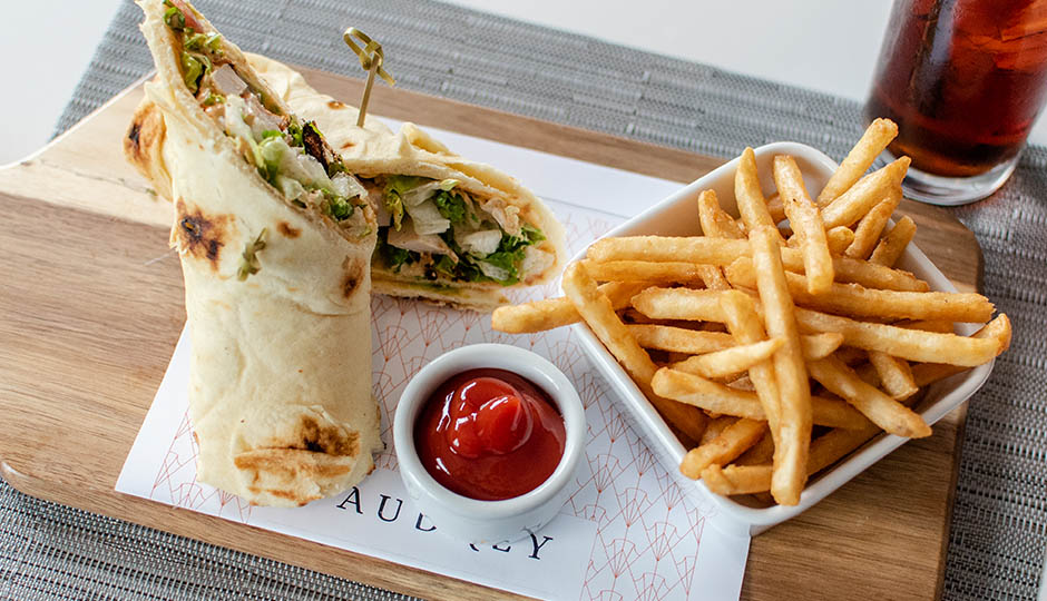 Chicken Flatbread Sandwich