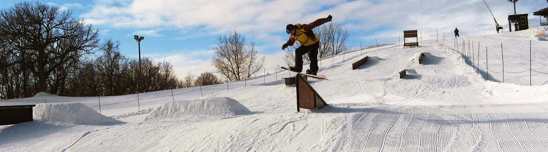 Snowboarding at The Mountain Top