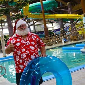 Santa in the waterpark