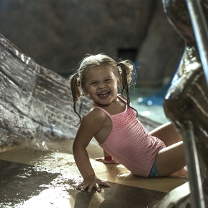 Girl Playing at Timber Ridge Waterpark