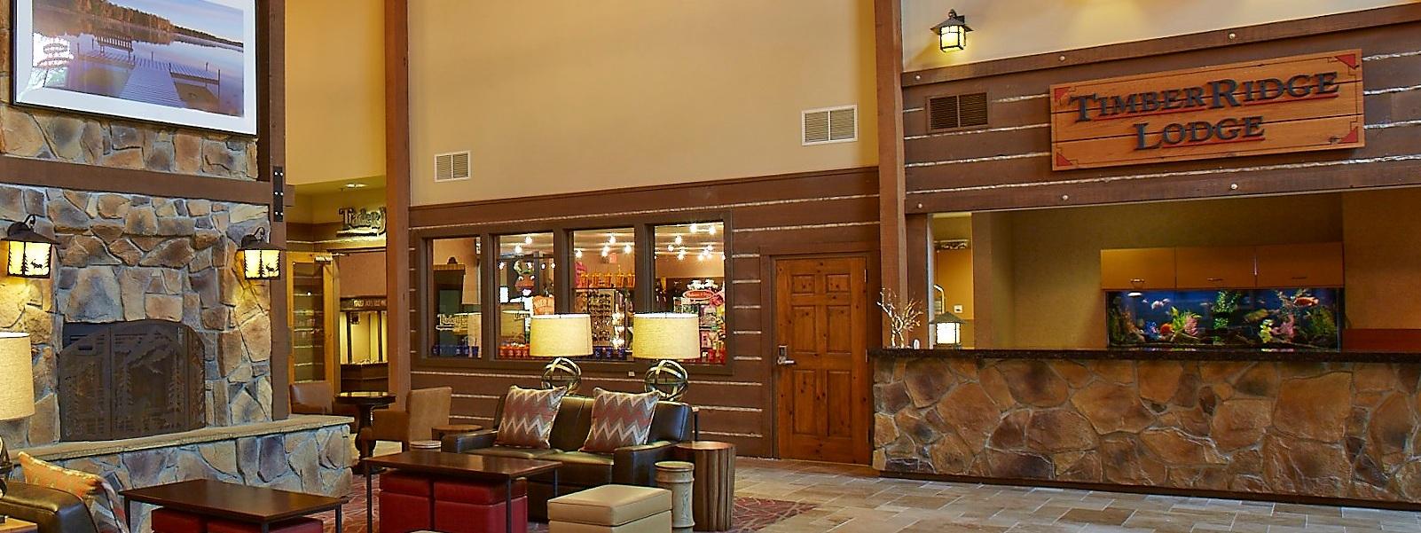 The Grand Timber Ridge Lodge reception spot at Lake Geneva