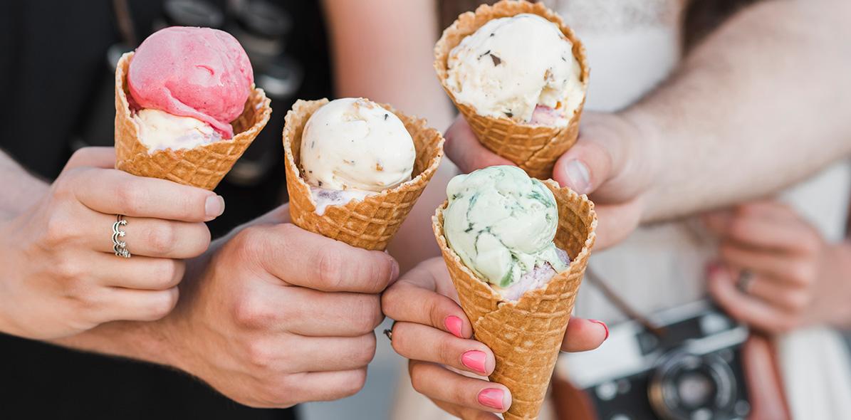 ice cream at Grand central