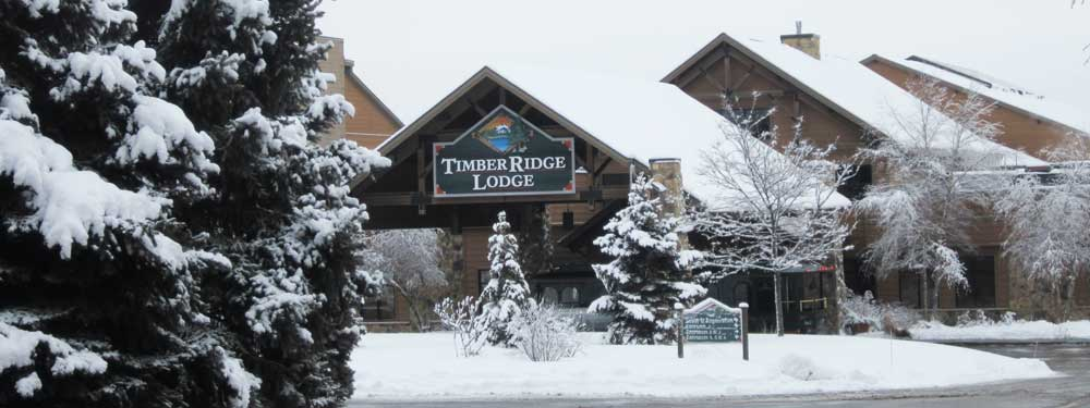 Timber Ridge entrance in winter