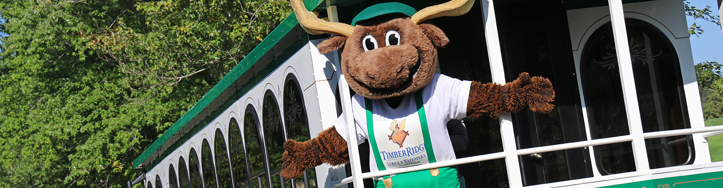 Ride the Trolley at Timber Ridge Lodge & Waterpark