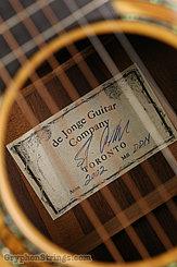 2002 Sergei de Jonge Guitar Dreadnought (Brazilian) Image 10