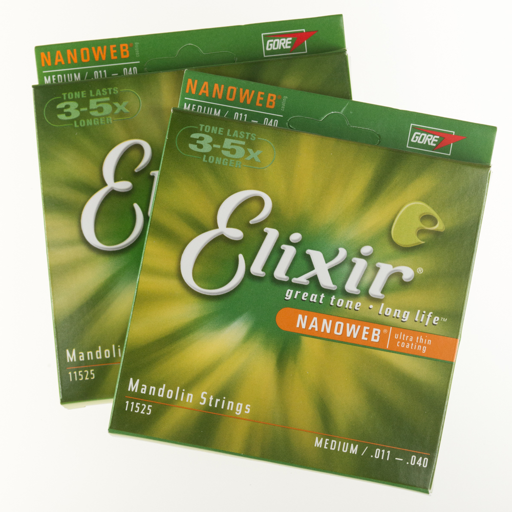 Elixir Mandolin Strings with Nanoweb Coating, Medium (.011-.040)