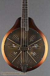 National Reso-Phonic Resophonic RM1 Walnut, Antique Brass Resonator Mandolin NEW Image 10