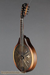 National Reso-Phonic Resophonic RM1 Walnut, Antique Brass Resonator Mandolin NEW Image 8