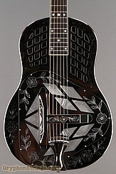 National Reso-Phonic Guitar STYLE 2 Tricone with Wild Rose design NEW Image 10
