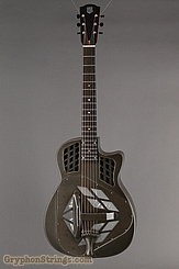 National Reso-Phonic Guitar T-14 Tricone, Weathered Steel NEW