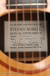 1992 Sobell Guitar Sicilian (Brazilian) Image 15
