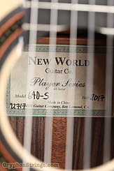 2017 New World Guitar Player Series 640-S (all solid) Image 14