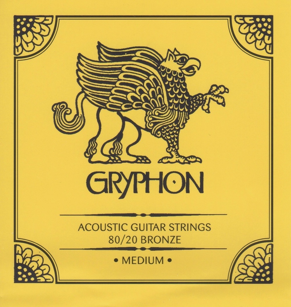 Gryphon Medium Gauge 80/20 Bronze Acoustic Guitar Strings