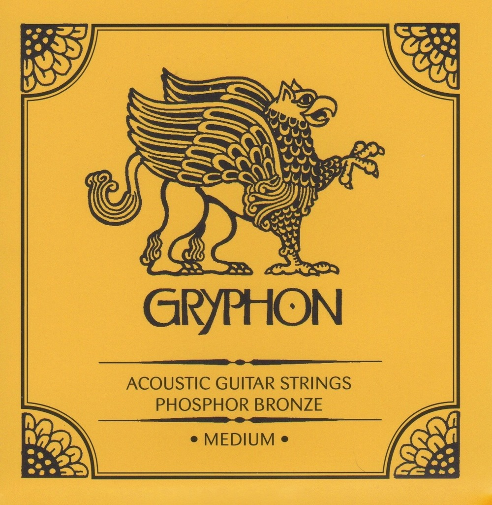 Gryphon Medium Gauge Phosphor Bronze Acoustic Guitar Strings