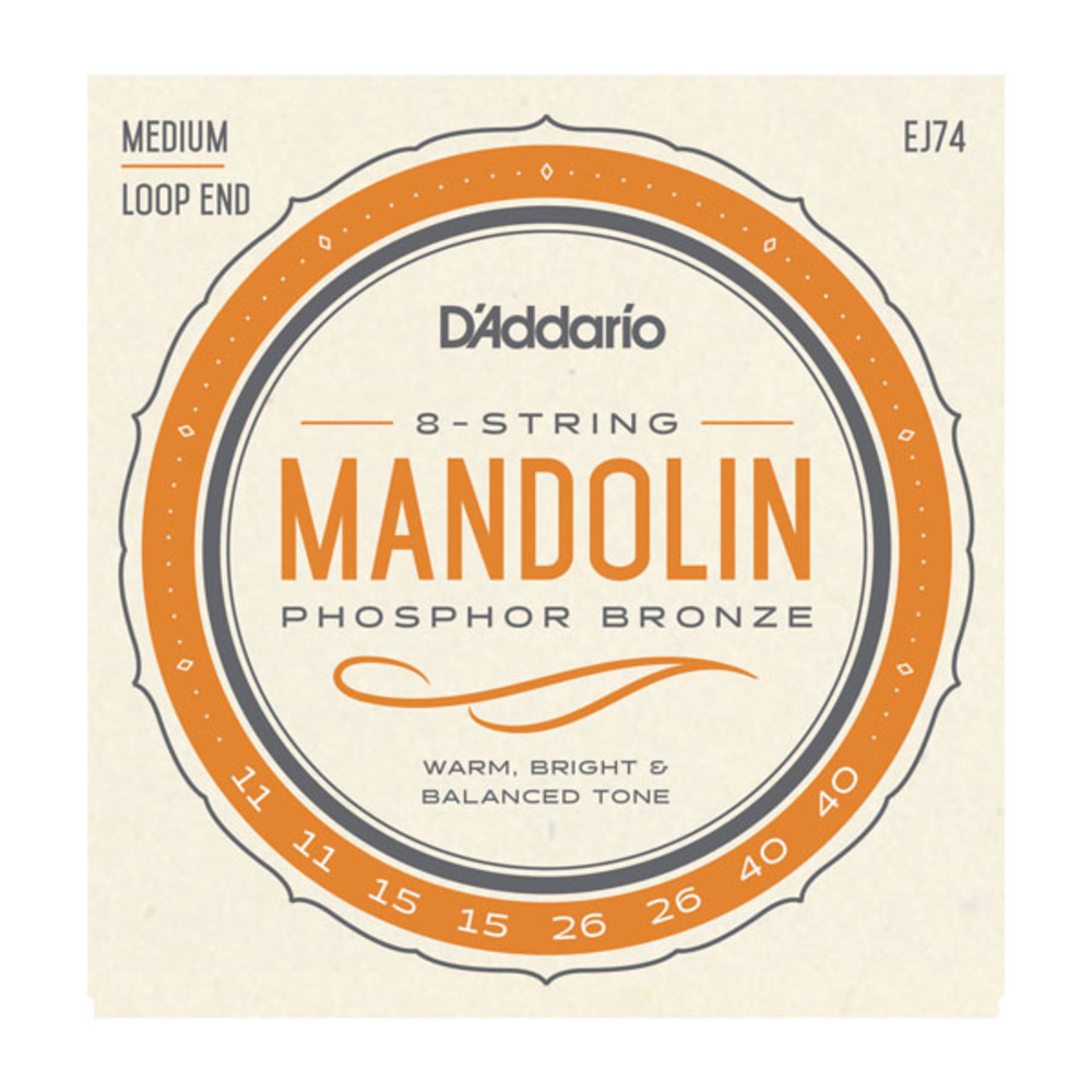D'Addario EJ74 Phisphor Bronze Medium Gauge Mandolin Strings